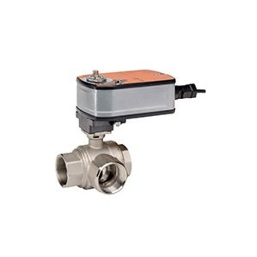 """Belimo B309+LF24-MFT-S US, 3-way CCV, SS Trim, 1/2"""", CV 08 CCV w/ Stainless Steel Ball and Stem"""