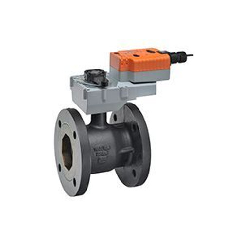 """Belimo B6600S-400+GKRX24-3, 2-way CCV,Flanged SS trim 6"""",CV400 Cast Iron body, stainless steel ball 250 F/120 C media temp, ANSI 125 Stainless steel disc"""