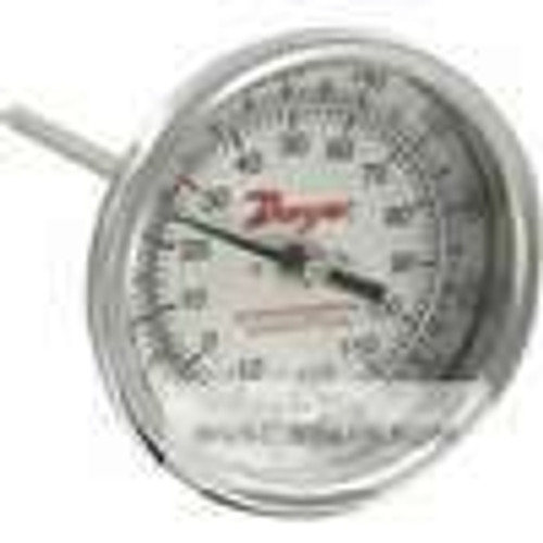 "Dwyer Instruments BTB34010D, Bimetal thermometer, 3"" dial, 4"" stem length, range 0/200 ¡F (-20/100 ¡C), 2 ¡F (2 ¡C) div"