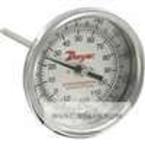 "Dwyer Instruments BTB3605D, Bimetal thermometer, 3"" dial, 6"" stem length, range 0/250 ¡F (-20/120 ¡C), 2 ¡F (2 ¡C) div"