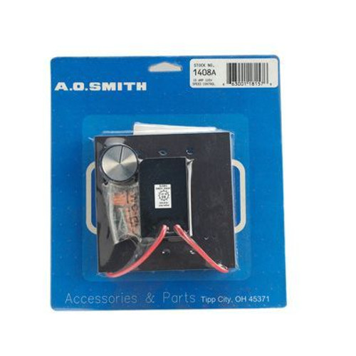 "Century Motors 1408A (AO Smith), Speed Controls 10 Max Amps 120 Volts Wall Mounting 4 1/2"" x 4 1/2"""