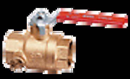 "Cimberio Valve CIM 200MC-04, 1/2"" Ball valve with dual side drain tapsBlast/Impact proof stem"