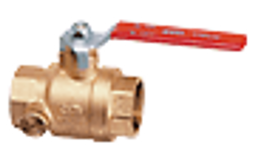 "Cimberio Valve CIM 200MC-06, 3/4"" Ball valve with dual side drain tapsBlast/Impact proof stem"