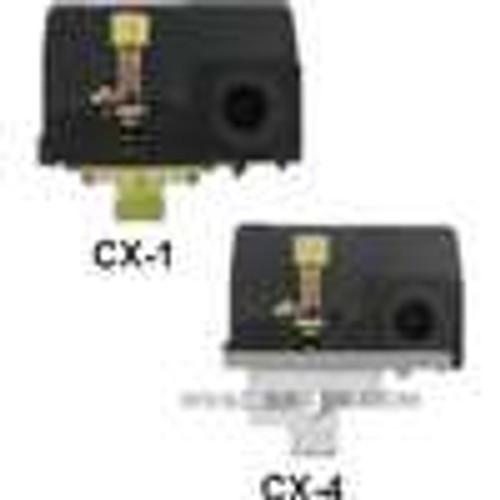 Dwyer Instruments CX-41, Compressor pressure switch, 4 ports, range 25-100 psig (17-69 bar), approx adj deadband 20-30 psig (14-21 bar), max pressure 129 psig (89 bar)
