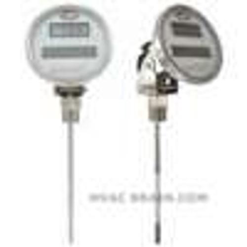 "Dwyer Instruments DBTA3152, Digital solar-powered bimetal thermometer, range -58 to 158¡F, 15"" stem"
