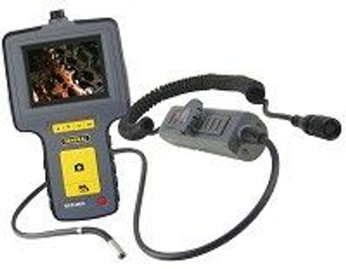"""General Tools DCS1600ART High Performance Articulating, Recording Video Borescope System with Articulating 6mm DIA x 1m Long Probe and 35"""" Screen"""