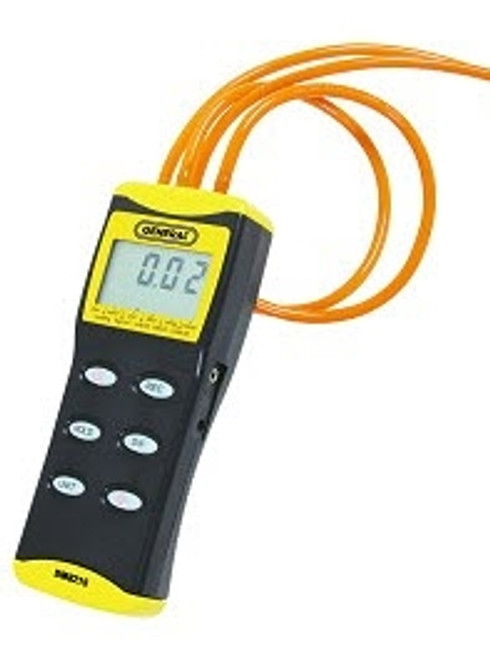 """General Tools DM8215 Digital Manometer with 36"""" Tubing, 0 to 15 PSI, +/- Port, Back Light & RS232 Output"""