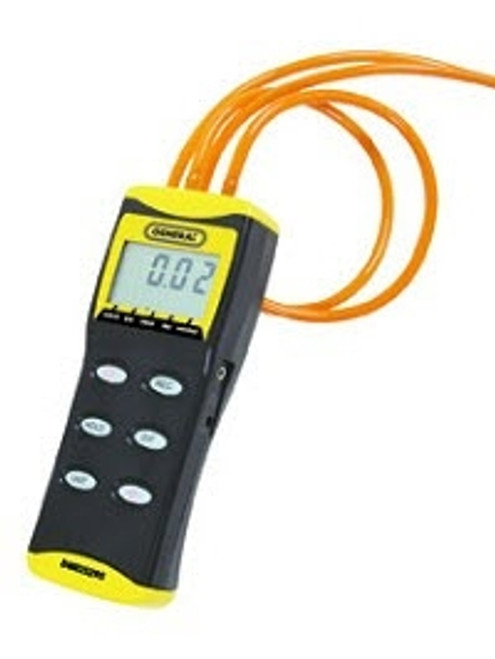 """General Tools DM8252 Digital High Resolution Manometer with 36"""" Tubing; 0 to 2 PSI, +/- Port"""