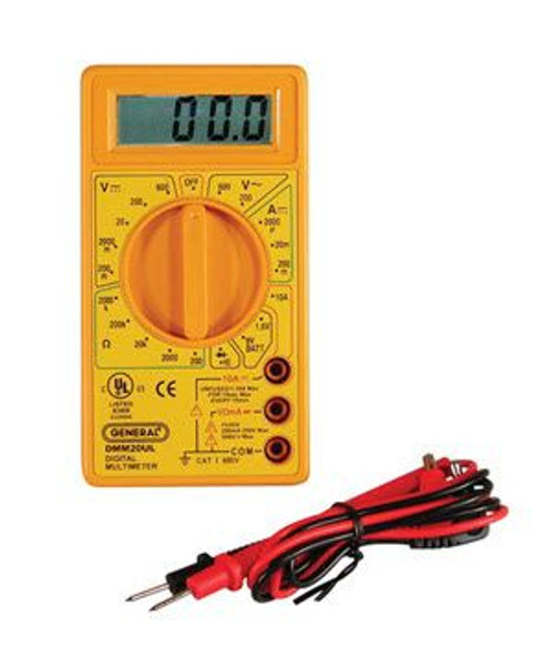 General Tools DMM20UL Digital UL Listed Multimeter
