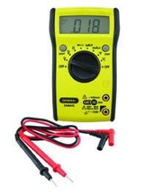 General Tools DMM45 Auto Ranging Digital Multimeter with Bright Screen Display