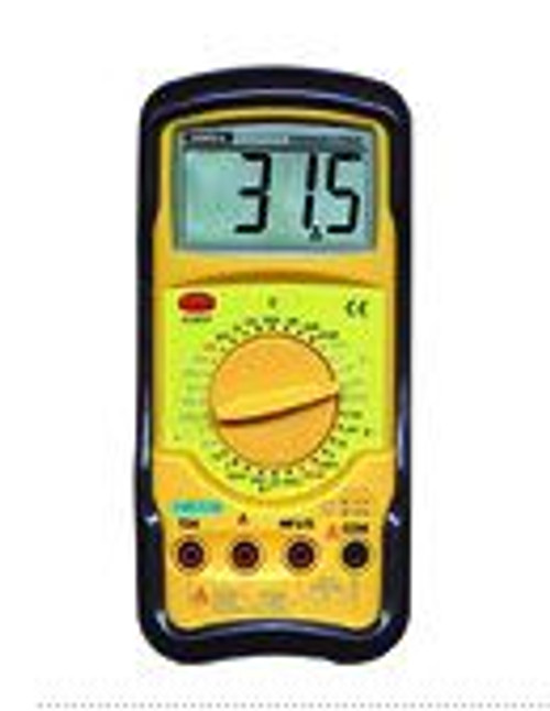 General Tools DMM51FSG Digital Multimeter with Continuity Beeper, Jumbo Display, & Protective Boot
