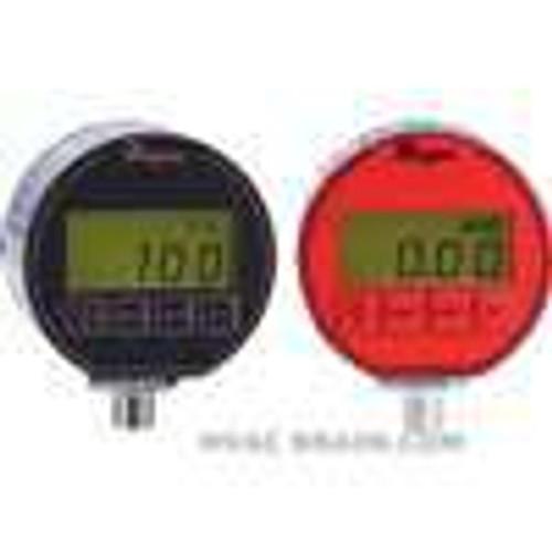 "Dwyer Instruments DPG-002, Digital pressure gage, selectable engineering units: 1500 psi, 1055 kg/cm, 1034 bar, 3054"" Hg, 3461 ft wc, 1034 kPa, 240 oz/in, 4152"" wc, 1034 mbar, 1055 cm wc, 7757 mm Hg"