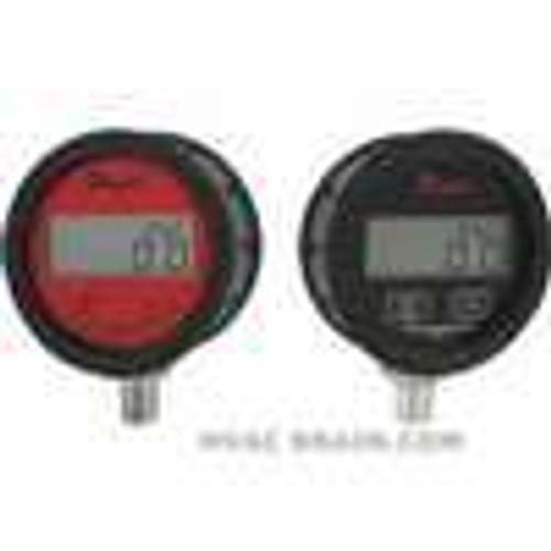 Dwyer Instruments DPGAB-08, Digital pressure gage w/ boot, range 0-100 psi with 4-digit display, ±05% accuracy, battery powered