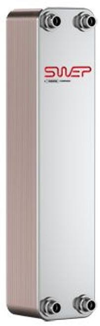 "SWEP B25T 15010-040-1, Brazed Plate Heat Exchanger, B25THx40/1P-SC-M 16+22U+2x1""NPT"