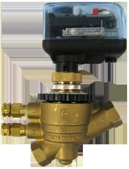 """HCi SPARTAN EA-ME4430W, EvoPICV Controllers - Electric Gear 2-Position ON/OFF Spring Return Zone Valve - Power cube, 1/2""""VL-3/4""""M"""
