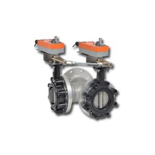 """Belimo F750HD+AFX24-MFT-S-X1, 3-Way DI BFV, SS Disc, 2"""" CV 115, COP 200psi"""
