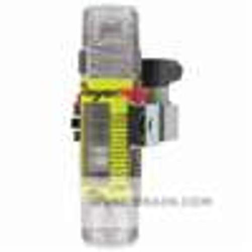 """Dwyer Instruments FS10410, Flowmeter with flow limit switch, range 05 to 40 GPM (19 to 15 LPM), 1"""" male NPT (polysulfone)"""