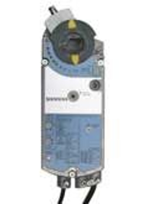 Siemens GCA1261P, OpenAir GCA Series Electric Damper Actuator, rotary, spring return, 160 lb-in (18 Nm), 24 Vac/dc, 2-position control, 90 sec run time, dual auxiliary switches, plenum rated