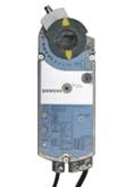 Siemens GCA1641U, OpenAir GCA Series Electric Damper Actuator, rotary, spring return, 160 lb-in (18 Nm), 24 Vac/dc, 0 to 10 Vdc control, 90 sec run time, adjustable span and offset, dual auxiliary switches