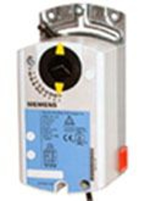 Siemens GDE1311P, OpenAir GDE Series Electric Damper Actuator, rotary, non-spring return, 44 lb-in (5 Nm), 24 Vac, floating control, 90 sec run time, plenum rated