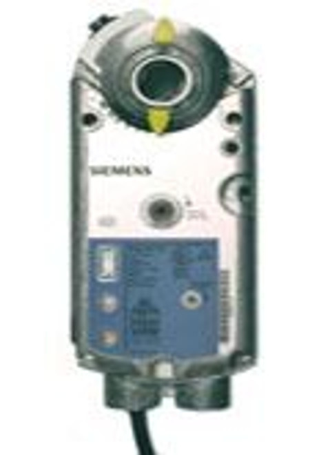Siemens GMA1611P, OpenAir GMA Series Electric Damper Actuator, rotary, spring return, 62 lb-in (7 Nm), 24 Vac/dc, 0 to 10 Vdc control, 90 sec run time, position feedback, plenum rated