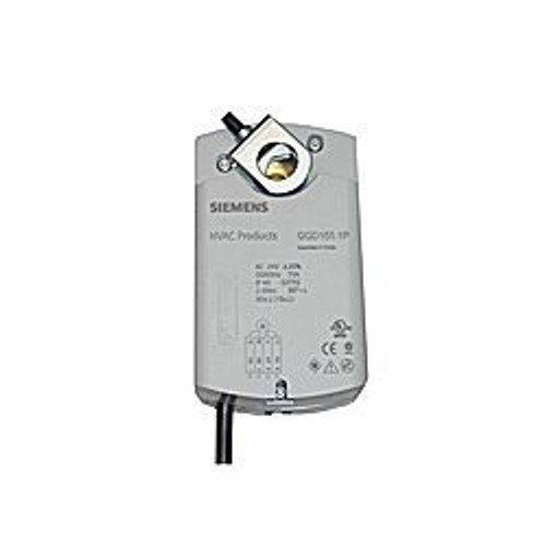 Siemens GQD1561P, OpenAir GQD Series Electric Damper Actuator, rotary, spring return, 20 lb-in (2 Nm), 24 Vac/dc, 2 to 10 Vdc control, 30 sec run time, signal inversion, auxiliary switches, plenum rated