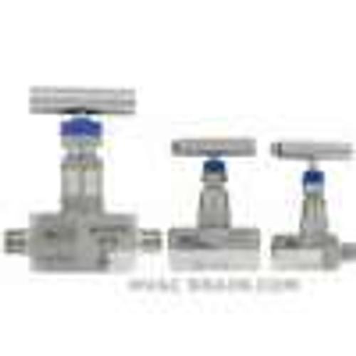 "Dwyer Instruments HNV-SSS33B, 3/8"" needle valve, female x female"