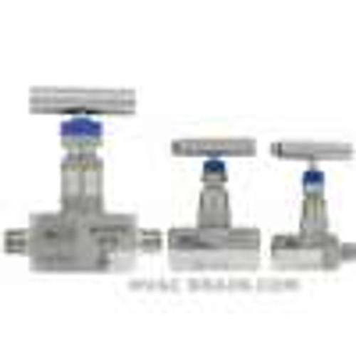 "Dwyer Instruments HNV-SSS36B, 1"" needle valve, female x female"