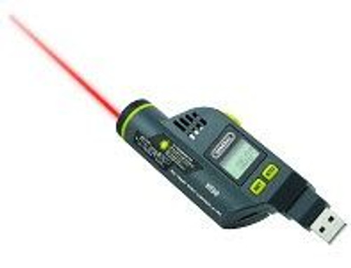 General Tools HT50 Temperature-Humidity Data Logger with LCD Display and IR Thermometer & GPP