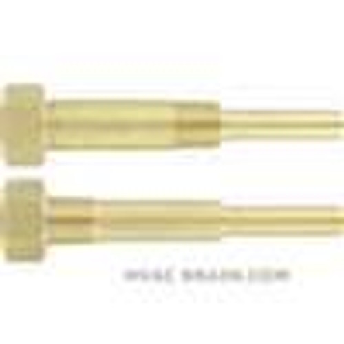 """Dwyer Instruments IT-W07, Industrial thermometer thermowells, brass, 2-1/2"""" insertion length, 2-1/2"""" lag"""