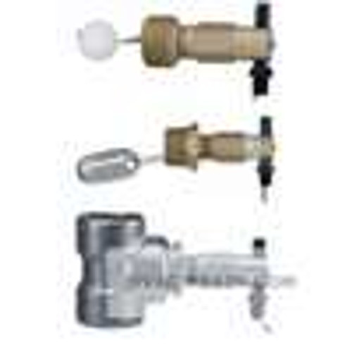 Dwyer Instruments L10-B-3-B, Mini-size level switch, polypropylene spherical float, brass external float chamber (tee), max pressure 250 psig (172 bar), min SG 09