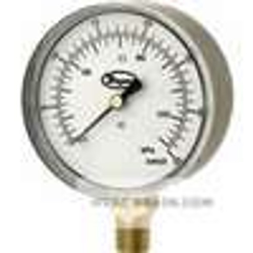 "Dwyer Instruments LPG4-D7122N, Low pressure gage, range -10-0"" wc (-25-0 kPa)"