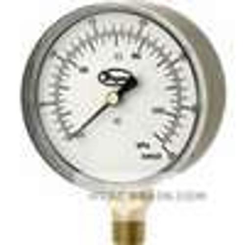"""Dwyer Instruments LPG4-D7122N, Low pressure gage, range -10-0"""" wc (-25-0 kPa)"""