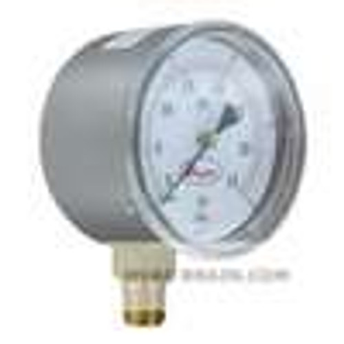 "Dwyer Instruments LPG5-D8622N, 25"" low pressure gage, dual range 0-100"" wc(0-25 kPa), bottom connection"
