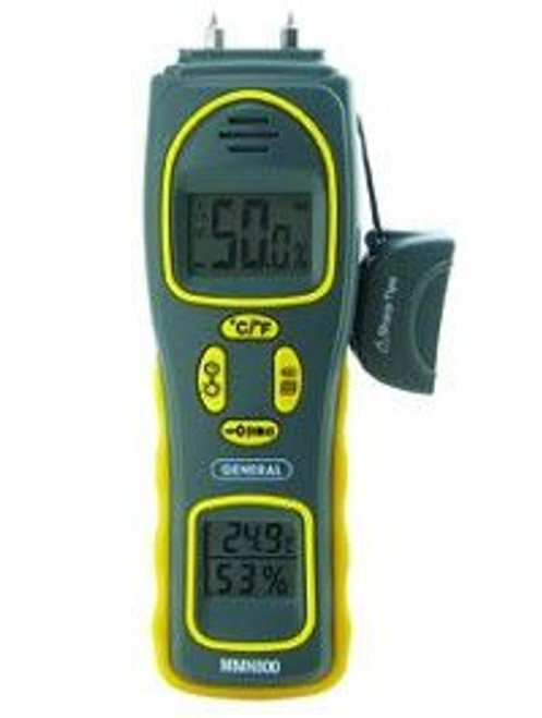 General Tools MMH800 4-in-one Pin/Pad Moisture Meter with Humidity & Temperature Display