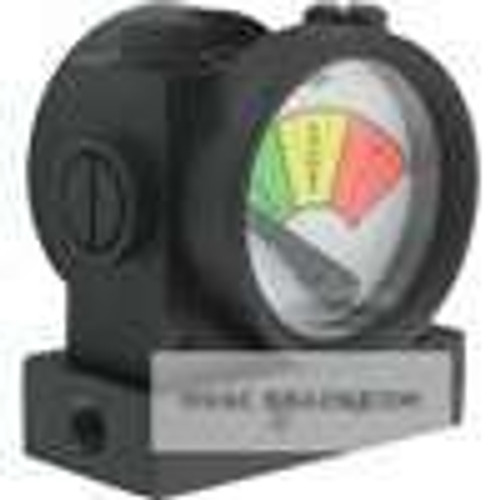 Dwyer Instruments PFG2-02, Process filter gage, range 0-5 psid, green zone 0-25 psid, yellow zone 25-375 psid, red zone 375-5 psid
