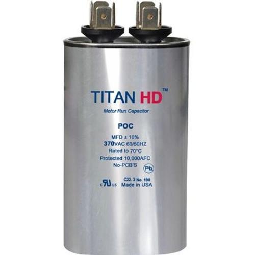 Titan HD POC10A, 370 Volt Oval Run Capacitor 10 MFD
