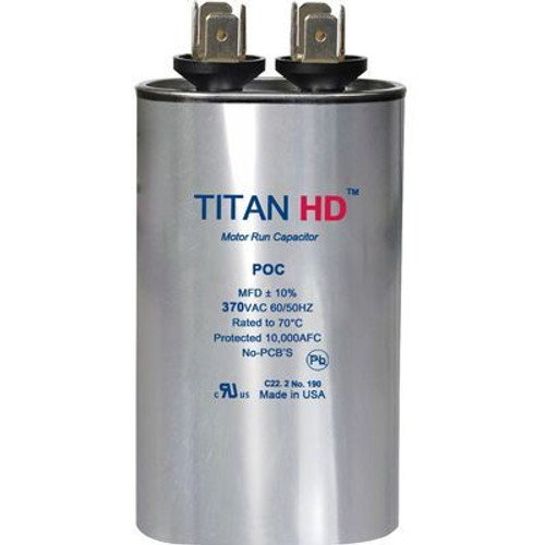 Titan HD POC15A, 370 Volt Oval Run Capacitor 15 MFD