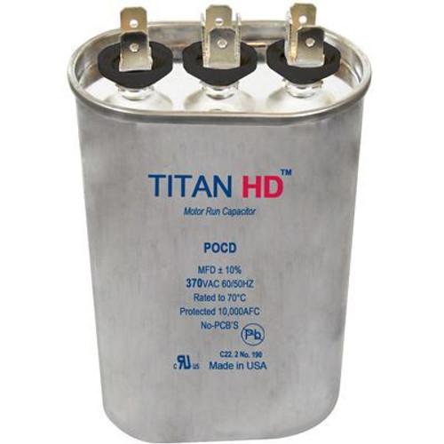 Titan HD POCD204A, 370 Volt Oval Run Capacitor 20+4 MFD
