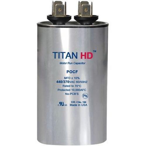 Titan HD POCF5A, 440 Volt Oval Run Capacitor 5 MFD