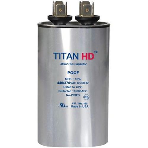 Titan HD POCF75A, 440 Volt Oval Run Capacitor 75 MFD