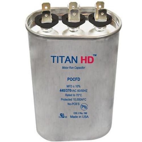 Titan HD POCFD2515A, 440 Volt Oval Run Capacitor 25+15 MFD