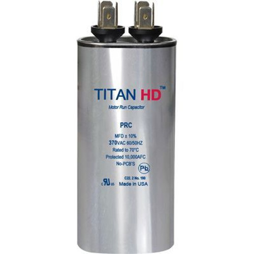Titan HD PRC30A, 370 Volt Round Run Capacitor 30 MFD