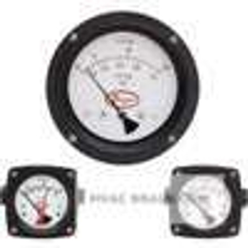Dwyer Instruments PTGD-AA02A, Differential piston gage, in-line connections, range 0-10 psid
