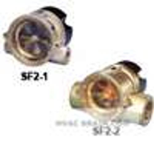 "Dwyer Instruments SF2-111, Sight flow meter, range 40-200 GPM, 110 VDC, 1/2"" female NPT"