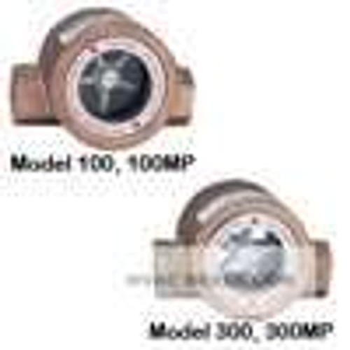 "Dwyer Instruments SFI-100-2, Sight flow indicator, 2"" body, 5688"" L x 3250"" D x 3625"" H (144 x 83 x 92 mm), 55 lb (25 kg)"