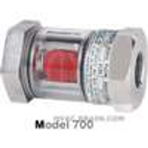 "Dwyer Instruments SFI-700-1, Sight flow indicator, 1"" body, 4875"" L x 2750"" H (124 x 70 mm), 51 lb (23 kg)"