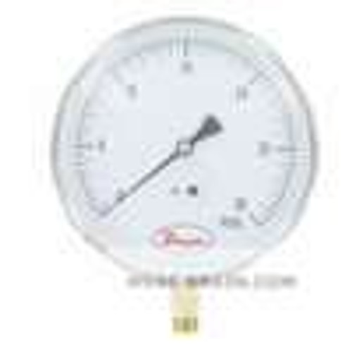 """Dwyer Instruments SG5-G0422N, 45"""" Contractor gage, 0 to 60 psi, 1/4"""" NPT bottom connection"""