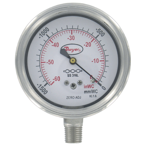 "Dwyer Instruments SGF-D8322N 25""SS GAGE SS WET"