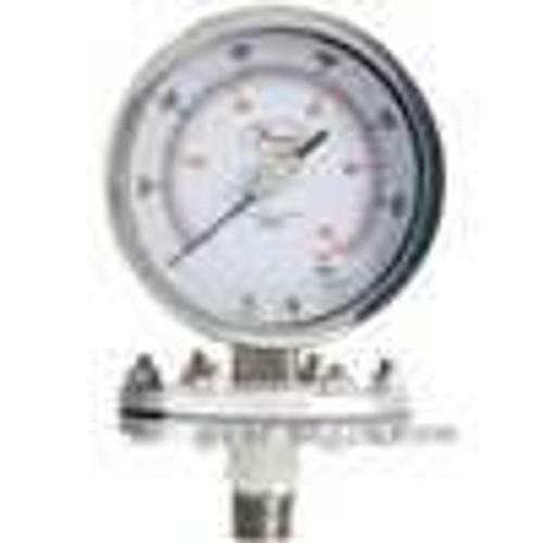 Dwyer Instruments SGO-F0424N, Stainless steel Schaeffer gage, 0-60 psi (0-400 kPa)